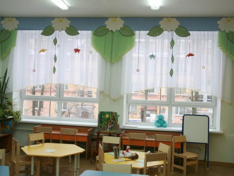 Шторы для детских садов своими руками фото