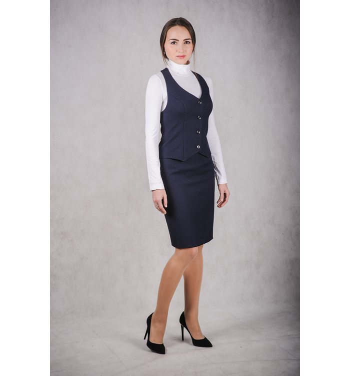 Комплект школьный юбка и жилет